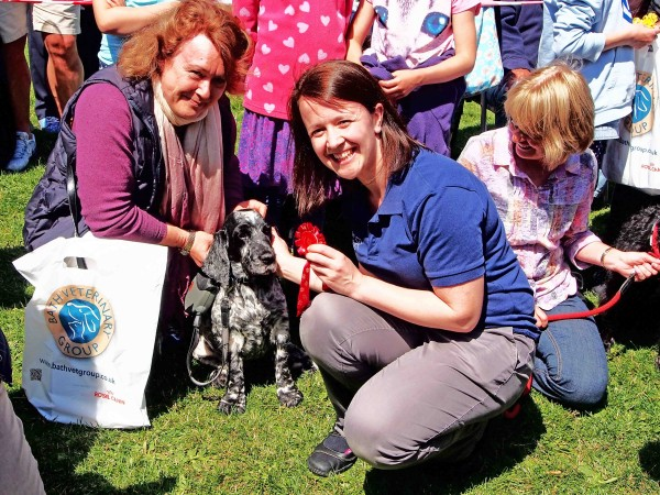 Winner takes home a doggy bag from Bath Veterinary Group